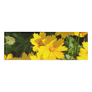Yellow Coreopsis Name Tag