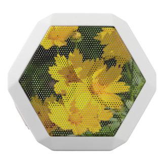 Yellow Coreopsis White Bluetooth Speaker