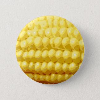 Yellow Corn on the Cob Texture Pinback Button