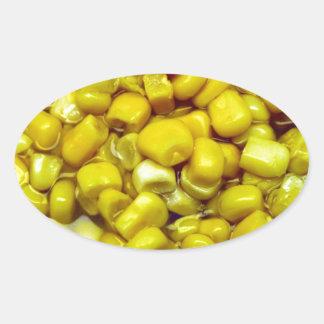 Yellow Corn Oval Sticker