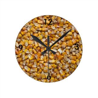 Yellow corn round clock