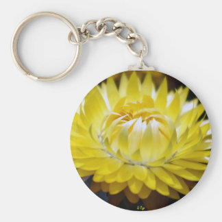Yellow Cornflower Keychain