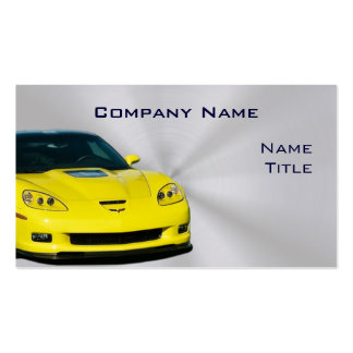 Yellow Corvette Business Cards