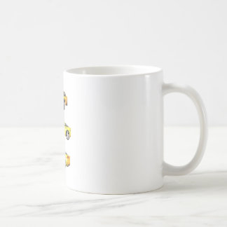 Yellow Corvette: Coffee Mug