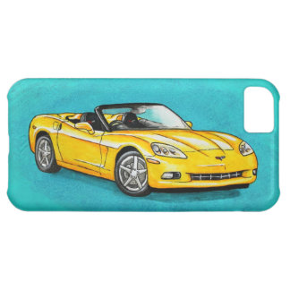 Yellow Corvette Cover For iPhone 5C