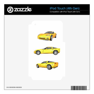 Yellow Corvette: Skins For iPod Touch 4G