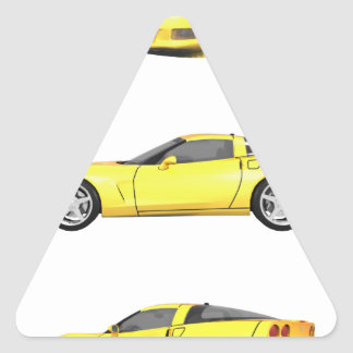 Yellow Corvette: Triangle Sticker