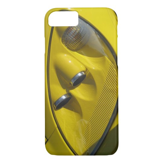 Yellow Corvette Z06 Headlight Close-up iPhone 8/7 Case