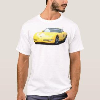 Yellow Corvette Z06 Race Car T-Shirt