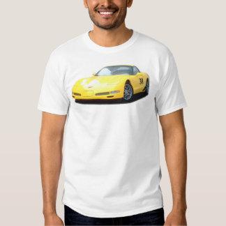Yellow Corvette Z06 Race Car Tee Shirt