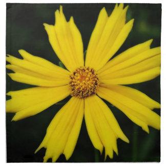 Yellow Cosmos Flower Close-up Napkin