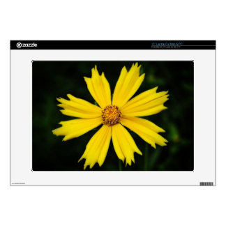"""Yellow Cosmos Flower Close-up Skins For 15"""" Laptops"""