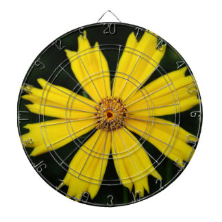 Yellow Cosmos Flower Dartboards