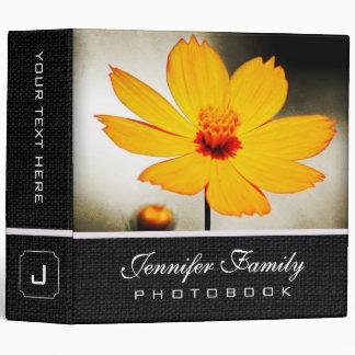 Yellow Cosmos Flower Family Photo Books Binder