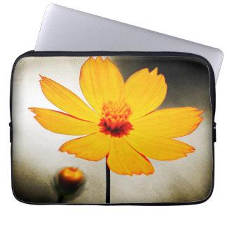 Yellow cosmos flower - Fine art - Laptop Sleeves