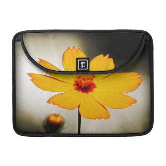 Yellow cosmos flower - Fine art Macbook Sleeves