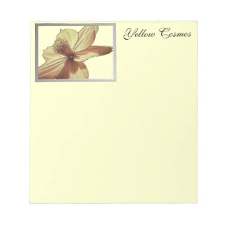 Yellow Cosmos Flower Picture Notepad