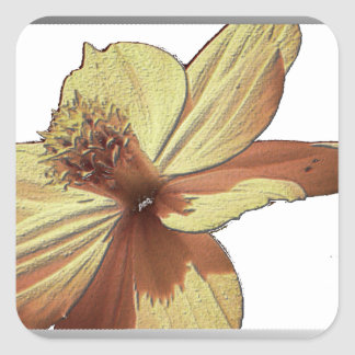 Yellow Cosmos Flower Picture Stickers