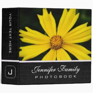 Yellow Cosmos Flowers Family Photo Books 3 Ring Binder