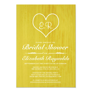 Yellow Country Bridal Shower Invitations