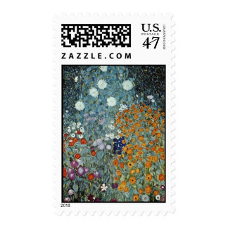 Yellow Country Garden, Claude Monet flowers Postage