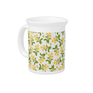 Yellow Country Wildflowers Pitcher