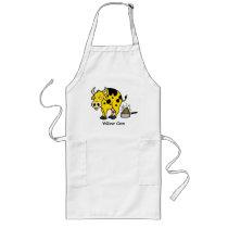 Yellow cow long apron
