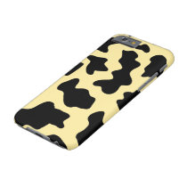 Yellow Cow Print Editable Barely There Phone Case