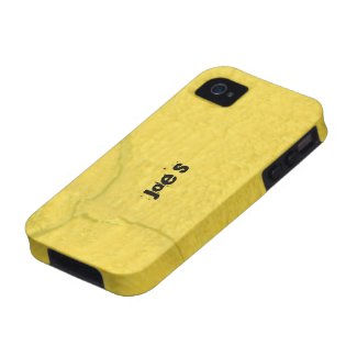Yellow Cracked Wood iPhone 4 Cover
