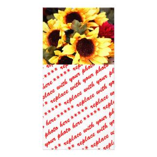 Yellow Craft  Flowers Card