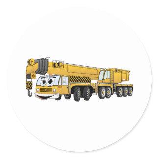 Yellow Crane Cartoon Classic Round Sticker