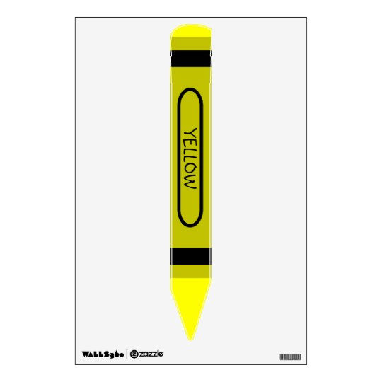 Yellow Crayon Wall Sticker