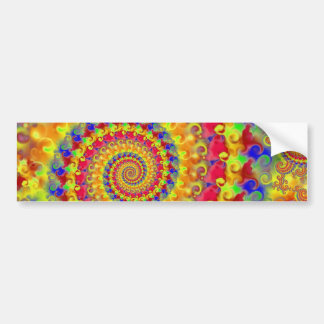 Yellow Crazy Fractal Bumper Stickers