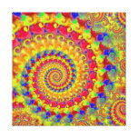 Yellow Crazy Fractal Gallery Wrap Canvas