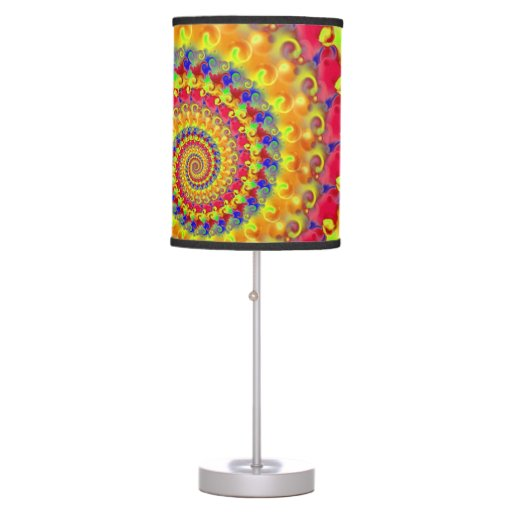 Yellow Crazy Fractal Table Lamps Zazzle