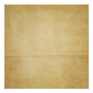 Yellow Creased Paper Background Poster