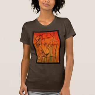 Yellow Creole Rain and Flower T-Shirt