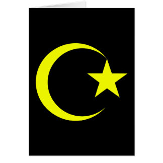 Yellow Crescent & Star.png Greeting Cards