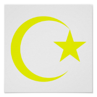 Yellow Crescent & Star.png Poster