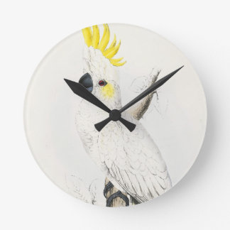 Yellow Crested Cockatoo Clock
