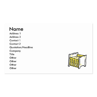 yellow crib Double-Sided standard business cards (Pack of 100)