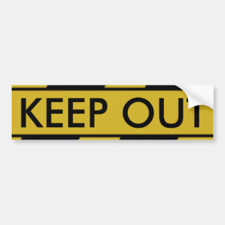 Yellow Crime Scene Tape Bumper Sticker