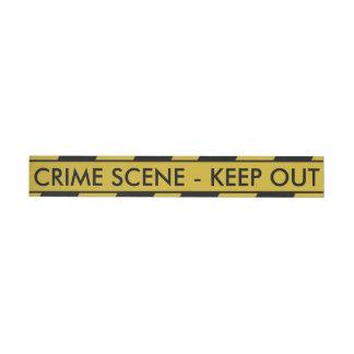 Yellow Crime Scene Tape Wrap Around Address Label