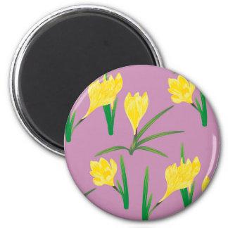 Yellow Crocus Flowers Magnet