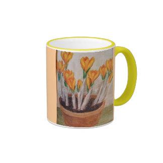 Yellow crocus  from aunt Jeen Ringer Mug