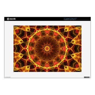 Yellow Crocus kaleidoscope Decal For Laptop