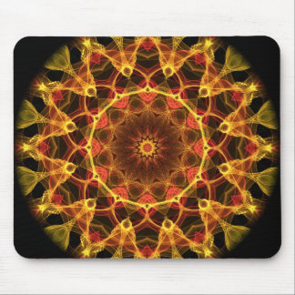 Yellow Crocus kaleidoscope Mouse Pad