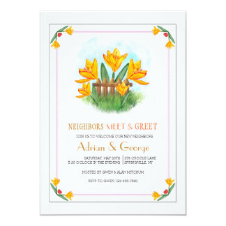 Yellow Crocus Meet And Greet Invitation