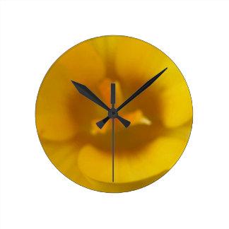 Yellow Crocus Wall Clock