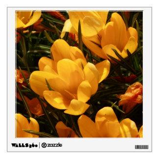 yellow crocus wall sticker